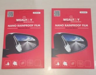 Begini Cara Pemasangan Wealthy Rainproof Film di Kaca Spion