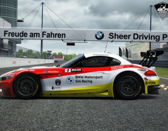 BMW Z4 GT3 sebagai Official Car Kejuaraan Sim Racing BDR