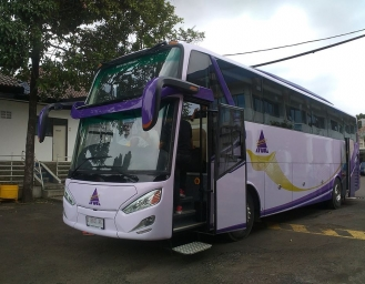 New Arctic, Bus High Deck Double Glass dari Karoseri Restu Ibu